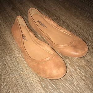 Lucky Brand Emmie Tan Leather Flat, Size 7 M